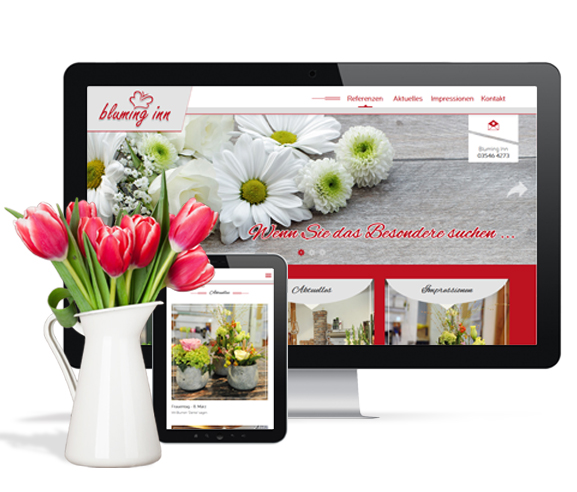 Responsive Homepage Bluming Inn