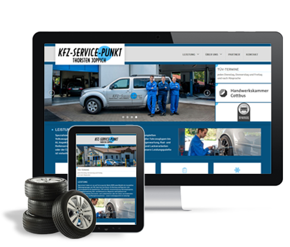 Responsive Homepage KFZ-Service-Punkt